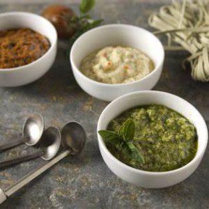 Bruschetta, Pesto & Olijven